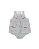 Fiorella سرهمی نوزاد دخترانه مدل fi-2020 - سفید مشکی - طرح راه راه