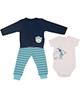 وچیون ست 3 تکه لباس نوزادی مدل Bbear B-B - سرمه ای آبی سفید - طرح خرس