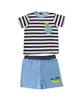 - ست تی شرت و شلوارک نوزادی پسرانه طرح مارمولک کد FF-024