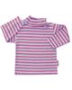 آدمک تی شرت آستین بلند نوزاد طرح راه راه کد 01-144401-یاسی قرمز صورتی