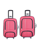 - مجموعه دو عددی چمدان پرواز مدل M01000 - صورتی