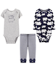 لباس نوزادی - ست 3 تکه لباس نوزادی پسرانه کارترز کد 1117