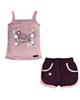 - ست تاپ و شلوارک نوزادی کوکالو مدل Little Lady - صورتی بادمجانی