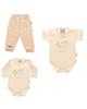 - ست 3 تکه لباس نوزادی دخترانه طرح خرس و قلب  کد t77285493 -g6u8g
