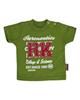 آدمک تی شرت نوزادی پسرانه مدل143401G -سبز پسته ای با نوشته سفید قرمز