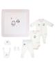 jikel ست 7 تکه نوزادی دخترانه مدل  JK907101-11-50 - سفیدصورتی