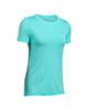 Under Armour تی شرت آستین کوتاه زنانه مدل HeatGear - سبزآبی - پلی استر