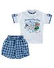 Fiorella ست تیشرت و شلوارک نوزاد پسرانه مدل fi-2001 - سفید آبی - نخپنبه