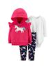 لباس نوزادی - ست 3 تکه لباس نوزادی دخترانه کارترز کد 1003
