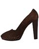- کفش زنانه استفانل مدلS03 - قهوه ای تیره - پاشنه بلند - چرم طبیعی