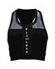 - نیم تنه ورزشی زنانه کد 111213-2121 - مشکی با نوشته زرد طلایی