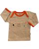 آدمک تی شرت آستین بلند نوزادی مدل Friends - رنگ نسکافه ای نارنجی