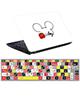 - استیکرلپ تاپ طرح میکی موس 0219-99برای15.6اینچ+برچسب فارسی کیبورد