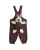 - سرهمی نوزادی مدل LIN1003Z - زرشکی خالخالی - طرح خرگوش