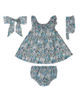 Fiorella ست 4 تکه لباس نوزادی مدل 21002 - آبی - گل دار