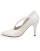 مارال چرم کفش زنانه پاشنه بلند مدل Valentino - صدفی - چرم طبیعی - مجلسی