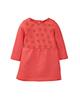 لباس نوزادی - پیراهن نوزادی دخترانه لوپیلو کد lp203 - قرمز - طرح دار