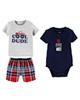 Carters ست 3 تکه لباس نوزادی پسرانه مدل 886 -طوسی سرمه ای قرمز - طرح دار