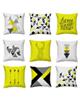 - کاور کوسن طرح هوم سوییت کد set100 مجموعه 9 عددی - زرد سفید طوسی