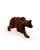 - مجسمه خرس چوبی ساده رنگ قهوه ای مدل 1105900023
