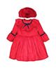 - ست پیراهن و کلاه نوزادی مدل پرنیان - قرمز