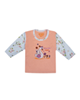- تی شرت آستین بلند نوزادی مدل 988585PI - گلبهی
