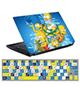 - استیکرلپ تاپ طرح سیمپسونها0220-99برای15.6اینچ+برچسب فارسی کیبورد