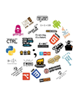 - استیکر لپ تاپ طرح برنامه نویسی کد 1 مجموعه 30 عددی
