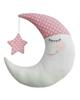 - کوسن کودک مدل ماه  - دخترانه صورتی و سفید