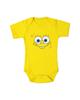 لباس نوزادی - بادی نوزادی کد 28 - زرد - طرح باب اسفنجی