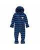 لباس نوزادی - سرهمی نوزادی لوپیلو کد YS04 - سرمه ای آبی - طرح راه راه
