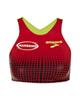 لباس زنانه نیم تنه ورزشی زنانه بروکس کد 300629008 - قرمز تیره - طرح دار