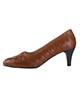 مارال چرم کفش پاشنهدار زنانه مدل باربارا - عسلی - چرم طبیعی - مجلسی
