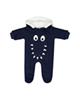 Fiorella سرهمی نوزادی پسرانه مدل 20521 - سرمه ای - کلاه دار