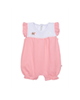 Fiorella سرهمی نوزاد دخترانه مدل fi-2004 - صورتی سفید - آستین حلقهای