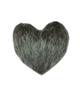 - کوسن طرح قلب کد 004 - طوسی نقره ای