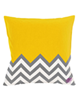 رنگار شاپ کاور کوسن مدل PWAB197 - زرد طوسی سفید