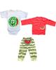 - ست 3 تکه لباس نوزادی پسرانه طرح هندوانه - سفیدقرمز سبز