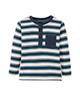 lupilu تی شرت نوزادی کد lusb138 - سرمه ای راه راه شیری سبز - آستین بلند
