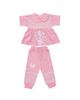 - ست بلوز و شلوار نوزادی دخترانه کد 990410 - صورتی - طرح پروانه
