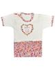 نیروان تی شرت آستین کوتاه نوزادی دخترانه طرح بنفشه رنگی - سفید