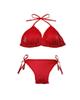 - مایو زنانه مدل Bikini Beach کد T631 - قرمز - شبرنگ - طرح دار