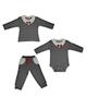 - ست 3 تکه لباس نوزادی بیبی وان طرح پاپیون کد 7442