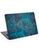 - استیکر لپ تاپ طرحgray and blue triangle کد cl-282برای 15.6 اینچ