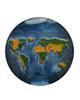 - تابلو رزین طرح نقشه جهان کد WS2-01
