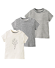 lupilu تی شرت نوزادی کد GC01 مجموعه 3 عددی - طوسی - سفید - طرح دار