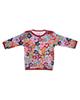 بی بی ناز تی شرت نخی طرح دار نوزادی دخترانه - گلدار رنگی شاد
