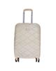 - چمدان مدل پی کی سایز متوسط - کرم روشن - طرح لوزی