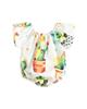 - بادی نوزادی دخترانه طرح کاکتوس مدل 01 - سفید سبز