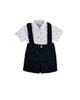 Fiorella ست پیراهن و شلوارک نوزاد پسرانه مدل fi-2037 - سفید سرمه ای